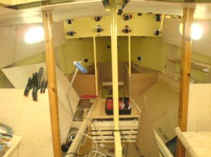 cabin with ceiling panels and side windows!