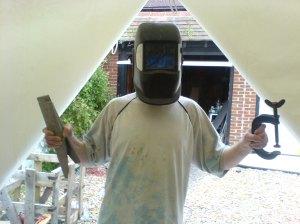 Chris in welding mode