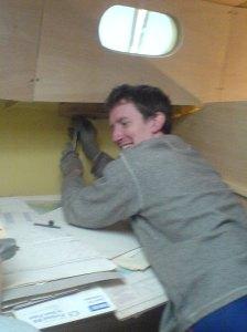 Pete removing interior