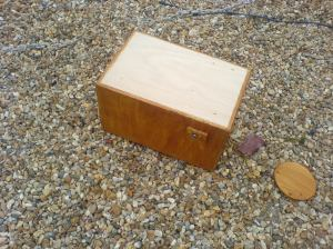 cajon with wood-stain and varnish